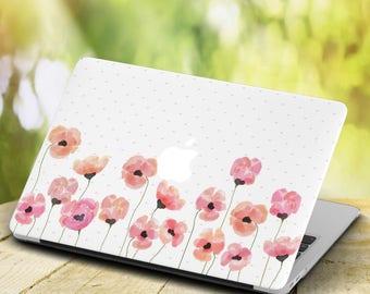 Flowers MacBook Pro 13 inch Hard case MacBook Air 13 inch Hard case Poppies MacBook Sleeve Laptop case MacBook 13 New Floral case MacBook 11