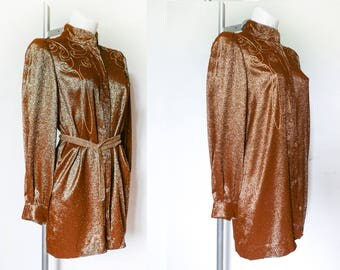 Vintage  jacket of fabric with lurex