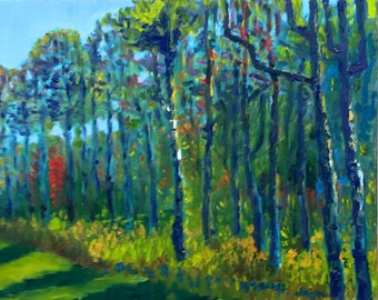"""Painting """"Spring Trees"""""""