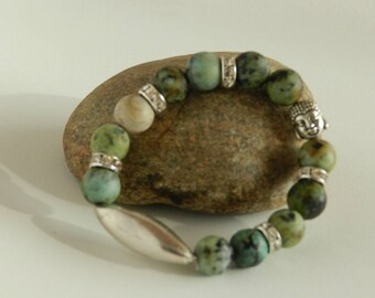 Genuine African Turquoise and sterling silver