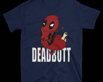 Deadbutt T-shirt -- navy blue t-shirt