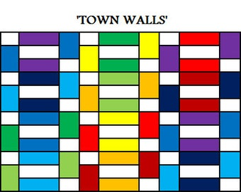 PDF Lap Quilt PATTERN....Quick and Easy...Layer Cake friendly...'Town Walls' ... Instant download