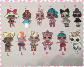 NEW Glitter LOL Surprise Doll Pins and Hair Ties
