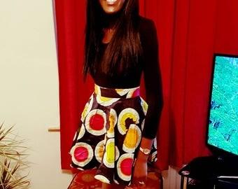 Ankara short peplum skirt