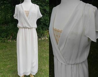 1980s sheer white dress