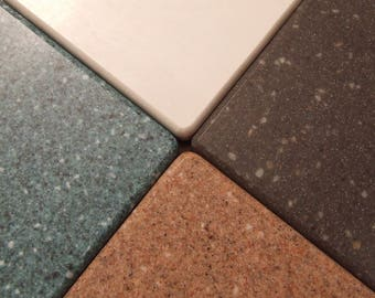 Corian Coasters in Vintage Classic Colors