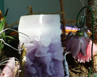 Faded Lilac Fairy Candle