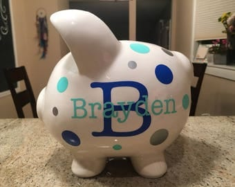 Custom Personalized Piggy Bank