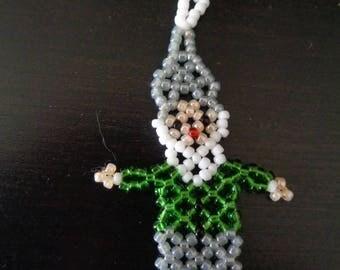 Flat green and grey Santa