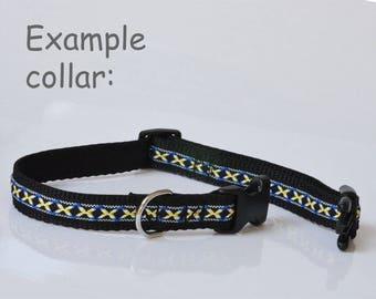 Bespoke dog lead & collar (29-41cm), 19mm width