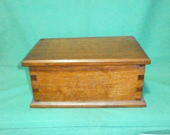 wooden cigar box/case/storage/Vintage/1950s/British