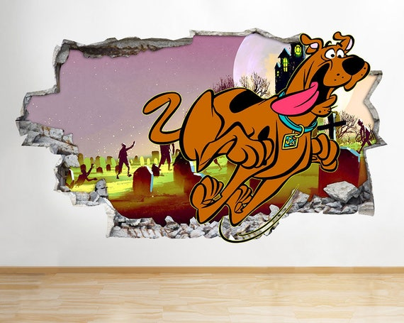Scooby Doo Smash Through the Wall Decal by LoveStickerStore
