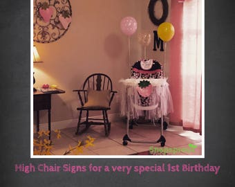 Tulle Highchair Decorations