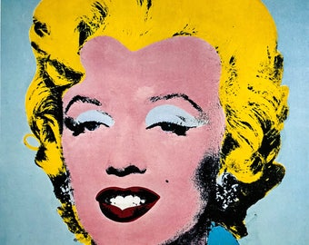 Andy Warhol / Marilyn Monroe / 1964 / Original Book Page Print / Published 1980's / Pop Art / Vintage