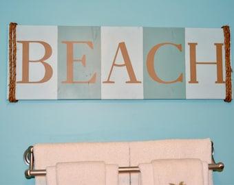 Beach Wooden Sign Wall Home Decor Nautical