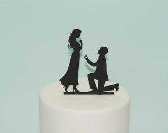 Engagement Cake Topper   Silhouette