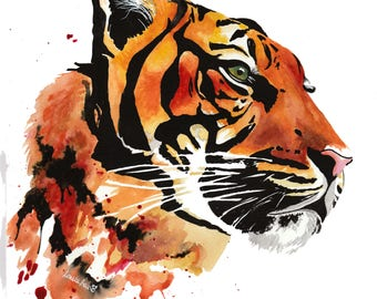 Sumatran Tiger - Original Watercolour Painting