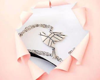 Dove Necklace | Dove Pendant | Silver Dove Necklace | Bird Pendant | Minimal Jewelry | Silver Jewelry | Anniversary Gift | Birthday Gift