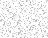 180440 White/Grey Scroll, Kimberbell Basics by Kim Christopherson Collection