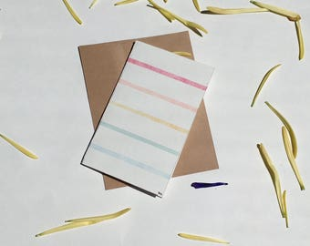 Watercolor Rainbow Striped Greeting Card