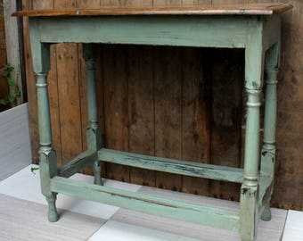 purely rustic oak hallway table