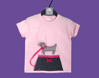 T-shirt with puppy mascot
