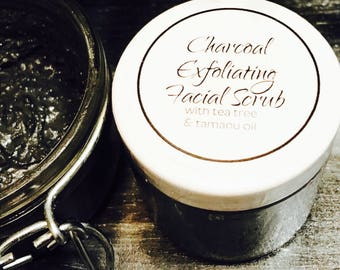 Charcoal Exfoliating Facial Scrub