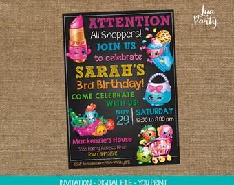 Shopkins invitation print yourself, Shopkins birthday invitation, Shopkins birthday invitation