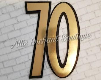 Number Cake Topper ,Golden Number Cake , Decoration Number Topper for Cake ,Silver Number for Cake Top, Number Centerpiece
