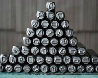 "8mm (3/8"") US State Metal Design Stamp - Supply Guy Stamp - SGCH-State"