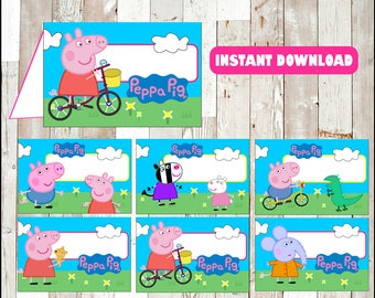 80% OFF Peppa pig food labels instant download , Peppa pig food tent cards, Printable Peppa pig party food table labels