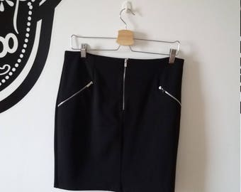 Black suit skirt with zip detail, new look, size 14