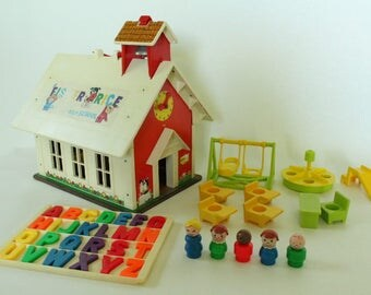 Fisher Price Little People, #923 Play Family School, 1971 Made in U.S.A.