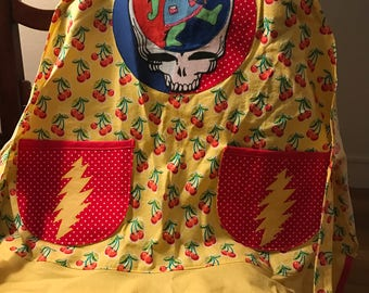 Grateful dead inspired ....Get ya groove on apron