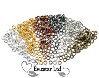 Brass Open Jump Rings 8mm Diameter, Thick 1mm, Jewellery Findings, Close but Unsoldered, Multi Colors Available, MSJR1