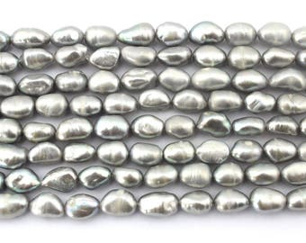 8-9mm Pearl beads Natural pearl beads Baroque pearl beads Gray pearl beads pearl bead supplies-EN003