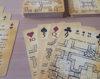 Inked Adventures Map & Dice Playing Cards (dungeon maps for DnD)