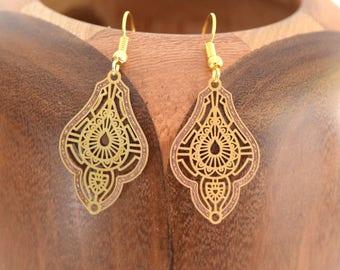 Earrings Oriental Golden filgranes Golden filgranes Oriental clips