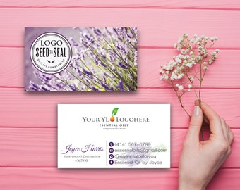 Essential oils YL Business Card, Custom YL Business Card, Custom Lavender Business Card, Printable Business Card YL39