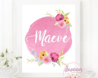 Baby Name Sign, Personalized Name Print, Nursery Baby Name Sign, Personalized Nursery Art, Personalized Name Sign, Name Printable, Name Art