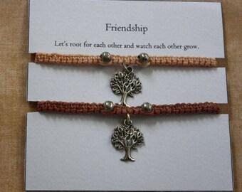 Friendship charm braided bracelets (set of 2)