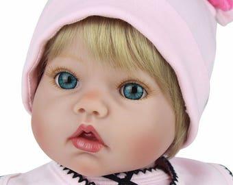 New Design-20inch-Handmade Silicone Reborn Baby Dolls For Princess Children Birthday Gift can sit can lie--very sofy vinyl--