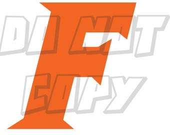 "Florida Gators Football - ""F"" -  Vinyl Decal - One Color - Made in USA"