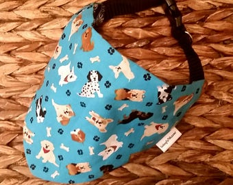 Maggies PAWmates Reversible Collar Bandana - for use with collar (50% profit to Maggie @maggiejackand_lilly_adventures)
