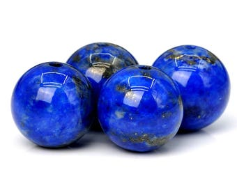 48 / 24 Pcs - 8MM Rare Aqua Blue Lapis Lazuli Beads Grade AAA Round Genuine Natural Gemstone Loose Beads (101844)