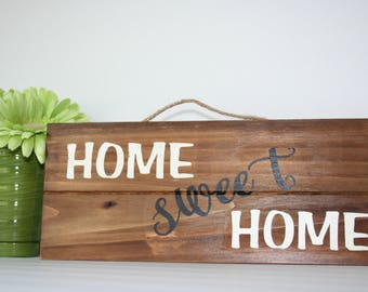 Home Sweet Home Pallet Sign, Wood Sign, Pallet Sign, Home Decor, Home Sweet Home