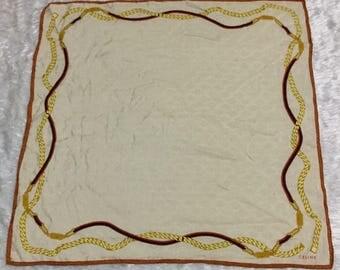 Vintage Celine Paris Scarves/Handkerchief Rare Design-Size 22'x22.5