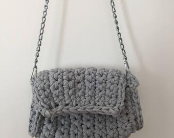 Clutch bag crochet pouch, crochet purse, handbag, zpaghetti, hooked, trendy