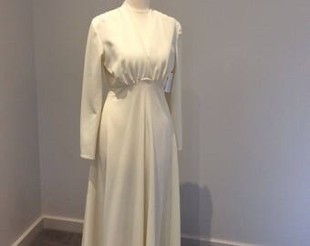 Vintage 1970's cream 'Emerson' full length dress