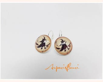 Halloween witch earrings